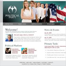 political party template free website templates in css html js