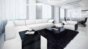 Black And White Living Room Decor Interior Design For 20 Modern Contemporary Black And White Living
