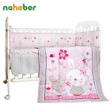 rabbit crib bedding online get cheap crib skirt pink aliexpress alibaba