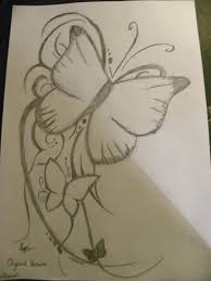 pencil sketch of butterfly tattoo photos pictures and sketches