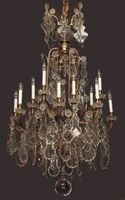 Vintage Crystal Chandeliers Large Vintage Chandelier 8 Light French Cream Shabby Glass