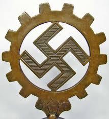 German Flag In Ww2 Ww2 German Daf Workers Flag Pole Top Bronze