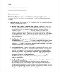 business letter of intent u2013 9 free word pdf format download