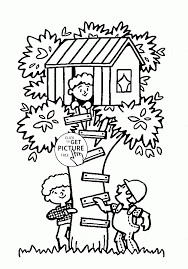 kids drawing of image gallery treehouse coloring pages at best all