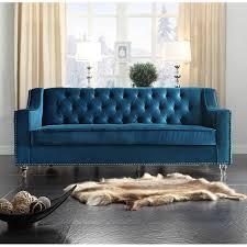 Tufted Vintage Sofa by Blue Velvet Sleeper Sofa Tehranmix Decoration