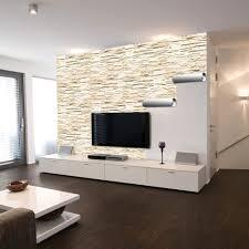 wohnzimmer steintapete tapete in holzoptik 24 effektvolle wandgestaltungsideen