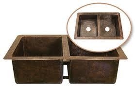 Copper Kitchen Sink by Hammered Antique Copper Kitchen Sinks Hammerwerks Series