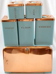 Vintage Kitchen Canister Sets Lincoln Beautyware Kitchen Turquoise Canister Set 6 Turquoise