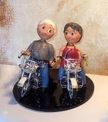 moto motorcycle harley davidson mature old people wedding cake