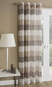 mykonos modern striped voile curtain panel ready made net curtain