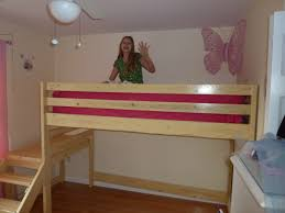 Wooden Loft Bed Plans by Ana White Camp Loft Bed Twin Xl W Shelf Diy Projects