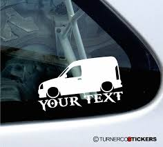 renault kangoo 2x custom your text lowered car stickers renault kangoo van mk1