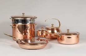 batterie de cuisine en cuivre suisse batterie de cuisine en cuivre et inox comprenant quatre