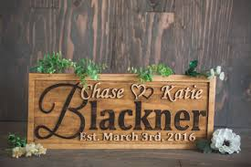 wooden personalized gifts buy a handmade personalized wedding gift family name sign custom
