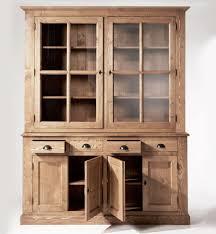 bahut de cuisine bahut de cuisine meuble vaisselier bois massif cire miel à