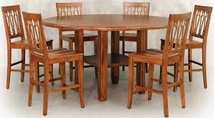 furniture minimalist oak wood staining round table with square