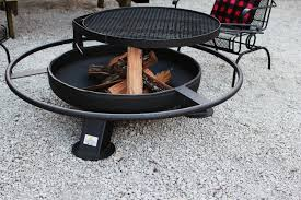 Grill Firepit 37 Inch Pit With Grill Top Heavy Duty Pits