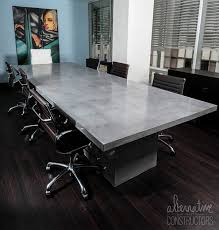 Conference Room Desk Executive Concrete Conference Table