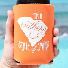 koozies for wedding southern koozie wedding favors south carolina wedding favors