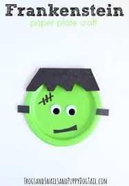 Fun Halloween Crafts For Preschoolers Frankenstein Paper Plate Craft Paper Plate Crafts Fun Halloween
