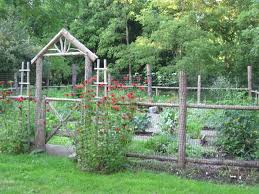 small vegetable garden design for small yards with wooden fences
