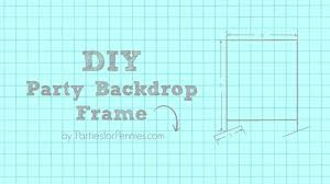 Photo Backdrop Diy Photo Backdrop Frame Parties For Pennies