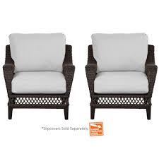 Wicker Patio Lounge Chairs Hampton Bay Woodbury Wicker Outdoor Patio Lounge Chair With