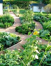 brick for garden landscape eclectic with gravel pathway vegetable
