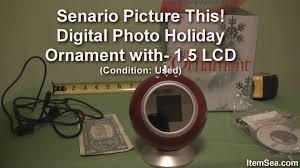 senario picture this digital photo ornament with 1 5 lcd