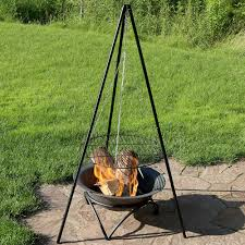 fire pit poker tripod grilling set with 19
