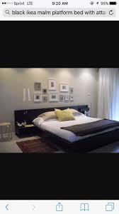 Ikea Malm Queen Platform Bed With Nightstands - queen size ikea malm bed frame and attached nightstands