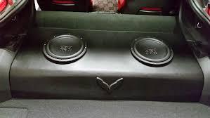 c6 corvette sub box custom c7 sub box w polk mm 10 subwoofers corvetteforum