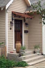 Exterior Door Awnings Simple Easy Fix For That No Cover No Porch Overhang The