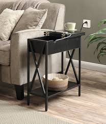 Charging Station End Table by Amazon Com Convenience Concepts Tucson Electric Flip Top Table