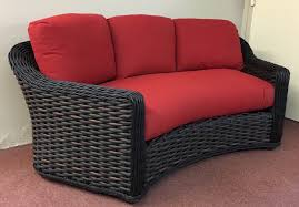 Rattan Settee Lake George Outdoor Wicker Curved Sofa