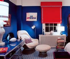 Tips For Interior Decorating With Bright Red Color Accents Or - Red and blue living room decor