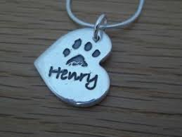 personalized paw print necklace silver personalised paw print necklace handmade in uk your dogs