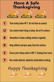 safety tips for thanksgiving