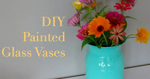How To Paint A Glass Vase With Acrylic Paint How To Paint A Glass Vase Best Glass 2017