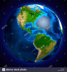 South And North America Map by View Of The Earth Globe From Space Showing South And North