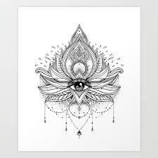 lotus flower all seeing eye print by varvaragorbash society6