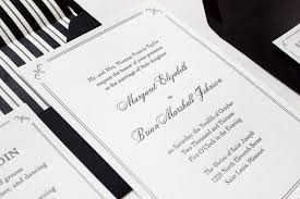 wedding invitations black and white margaret brian s formal wedding invitations