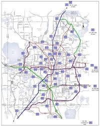 florida highway map map of central florida roads deboomfotografie