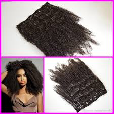 Online Clip In Hair Extensions by 4a 4b 4c 3a 3b 3c Mongolian Virgin Afro Curly Hair Afro