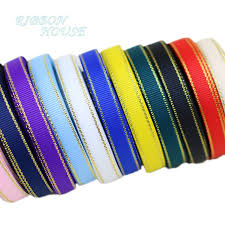 christmas ribbon wholesale 10 yards lot gold edge grosgrain ribbon wholesale gift wrapping