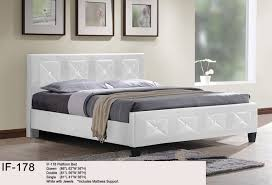 Platform Beds White Deluxe Jewel Platform Bed White If 178
