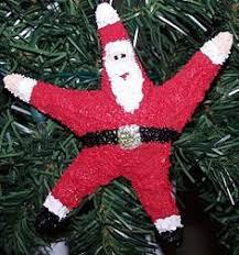 yarni gras make it monday starfish santa ornaments