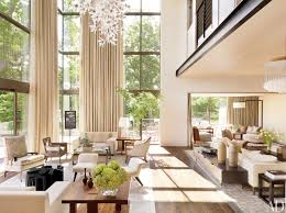living room window treatment ideas vaulted ceiling high ceiling