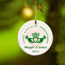 personalized ornaments claddagh ornament
