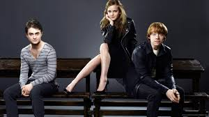 harry hermione and ron on a bench wallpaper for blackberry curve
